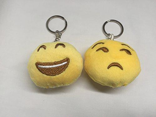 StyleTech Inc. Cute Mini Emoji Cushion Stuffed Toy Keychain Soft Plush Accessory (1.) Design A - Set of 2) (Pontiac Firebird Calendar compare prices)