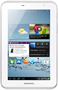 Samsung Galaxy Tab 2 P3110 WIFI only Tablet (17,8 cm (7 Zoll) Display, 1GHz Prozessor, 1GB RAM, 16 GB Speicher, 3,2 Megapixel Kamera, Android) weiß