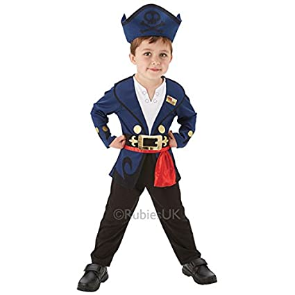 New Toddlers Disney Jake Neverland Pirate Boys Fancy Dress Party Costume