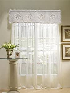 sharp bathroom window coverings | Amazon.com: Donna Sharp Josie Embroidered Quilted Cotton ...