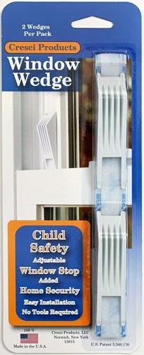 4 Total Window Wedges - Adjustable Window Stop - Pack of 2 - 4 total