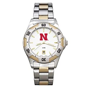 Nebraska All Pro Two Tone Watch by Logo Art
