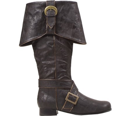 Men's 1 Inch Heel Knee High Pirate With Buckle Décor Boots