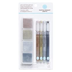 Martha Stewart Crafts Ink Pad and Pen Combo Set