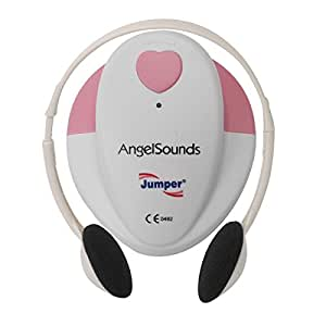 Angelsounds Baby Fetal Heart Monitor (Doppler) with free Headphones, battery and recording cable