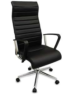 The Alexander Black Modern Ergonomic Office Chair W High Back