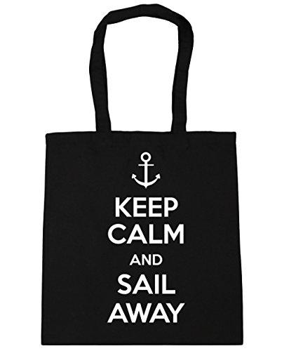 HippoWarehouse-Keep-Calm-and-Sail-Away-Tote-Shopping-Gym-Beach-Bag-42cm-x38cm-10-litres