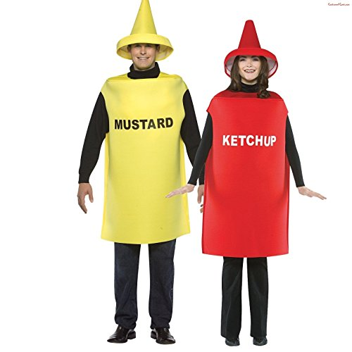 Adult Ketchup & Mustard Couples Costume - One-Size (Ketchup And Mustard Costume)