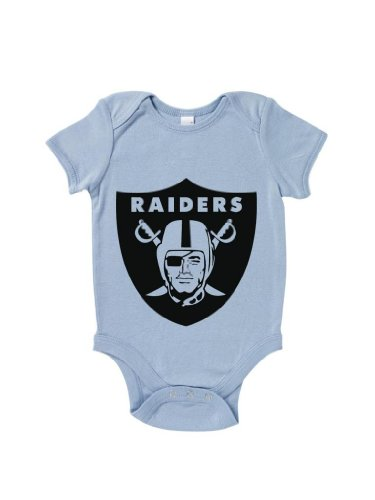Blue Ivory Raiders Logo Baby Grow Los Angeles Ice Cube Tupac Hip Hop front-898139