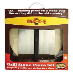 Mr Bar B Q 06187X 3Piece Pizza Stone Kit