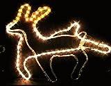 走るトナカイロープライト 8パターン点滅 クリスマスイルミネーション チューブライト 防雨・防滴仕様