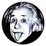 缶バッジ アインシュタイン 38mm ピンバッジ