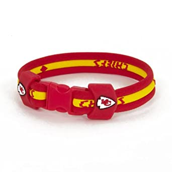 NFL Kansas City Cheifs 7in Titanium Twist Bracelet by Eagle