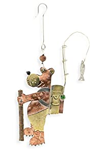 Pilgrim Imports Hiking Bear Fair Trade Ornament