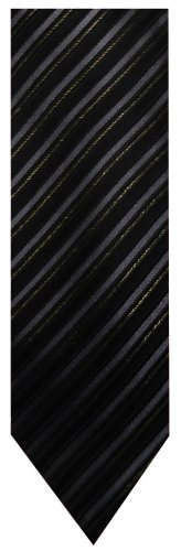 Donald Trump Neck Tie Xl Extra Long Black Silver And Gold Striped