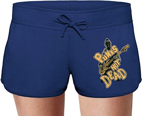 Punks not dead Sweat Shorts Estivi per Donne Summer Sweat Shorts For Women & Ladies   80% Cotton-20%Polyester  DTG Printing  Unique & Custom X-Large