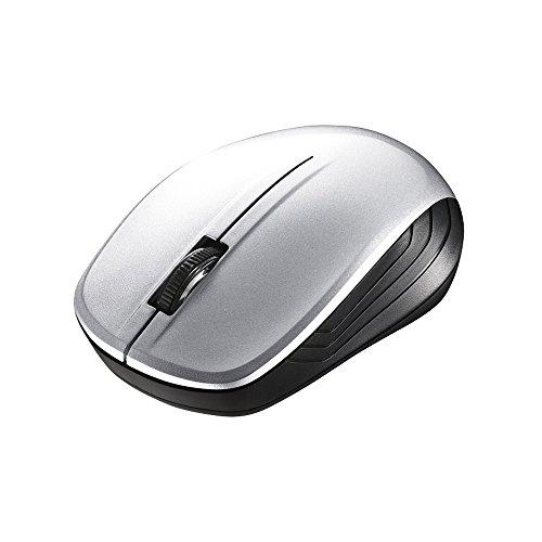 BUFFALO 無線(2.4GHz)BlueLEDマウス3ボタン シルバーBSMBW105SV