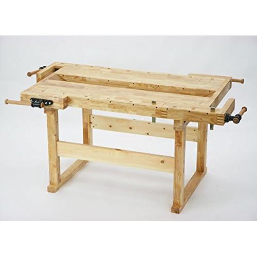 W186 木工作業台 木工用作業台 木製作業台 工作作業台 木製工作作業台 作業台 木製 バイス 工作用 木工用 デスク 机