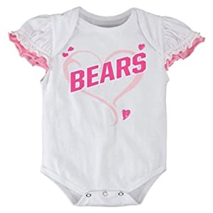 Chicago Bears Newborn Girls White Ruffle Creeper by Adidas Select Infant / Toddler / Youth Size: 18 Months