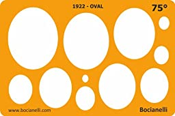 Metric 75 Degrees Ellipse Ellipses Oval Shape Symbols Drafting Drawing Template Stencil