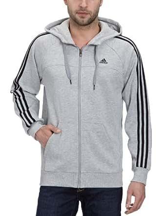adidas Essentials Sweat-Shirt  capuche zipp Homme Megrhe FR : L (Taille Fabricant : L)