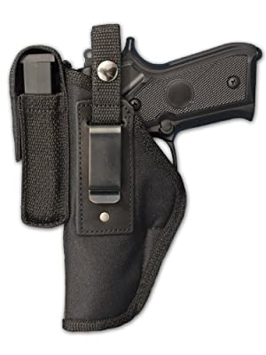 Barsony Gun OWB Belt Holster with Magazine Pouch for Full Size 9m 40 45