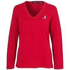 Oxford NCAA Alabama Crimson Tide Ladies Carson V-Neck Sweater by Oxford