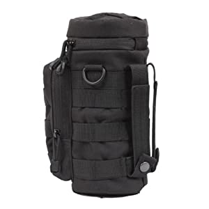 Black MOLLE Water Bottle Pouch