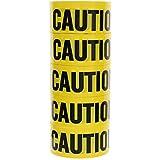 Caution Tape- Yellow Warning Barricade Do Not Enter Yellow Tape - 5 Piece Set
