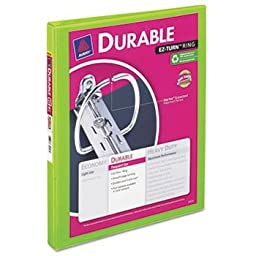 Avery-Dennison 34157 Durable View Binder with Slant Rings44; Chartreuse - 0.5 in.