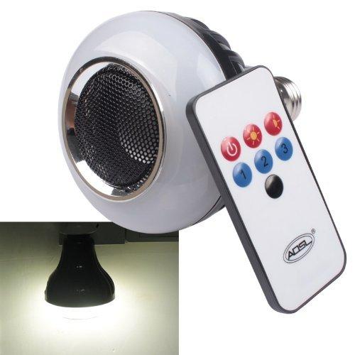 Enjoydeal Wireless Bluetooth Speaker Led E27 8W Adjustable Brightness Lamp With Bluetooth Loudspeaker