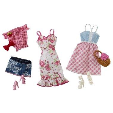 Barbie-Trend-Garderoben-Set-Mode-Kleider-Kleidung-Picknick
