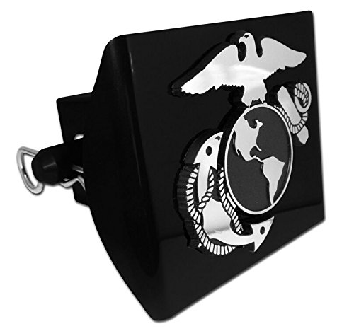 US Marine Corps Insignia Trailer Hitch Cover with Pin Included (Officially Licensed) (Usmc Tow Hitch Cover compare prices)
