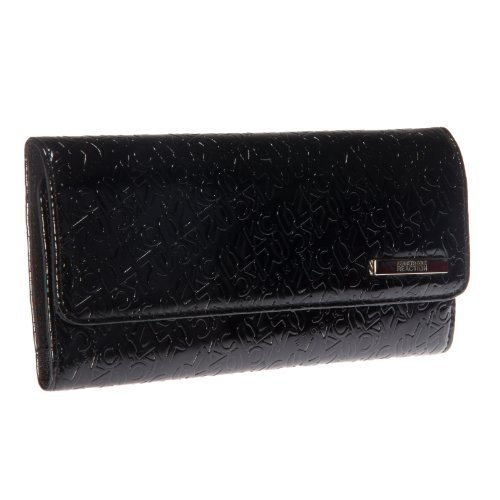 Kenneth Cole Reaction Dress to Impress Tri Me A River Wallet (Black w/ Solid)