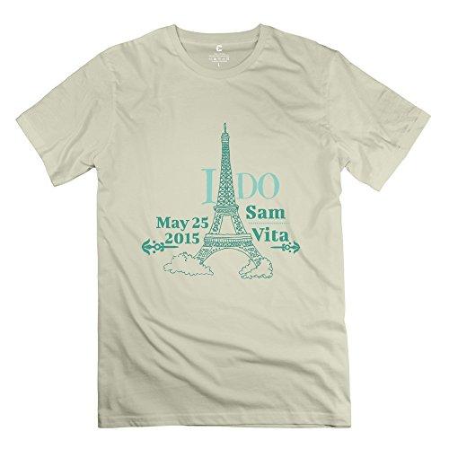 Tbtj-X Great Eiffel Tower T Shirt For Men Natural Xx-Large
