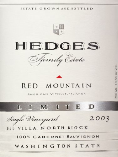 2003 Hedges Family Estate Single Vineyard Limited Cabernet Sauvignon 750 Ml