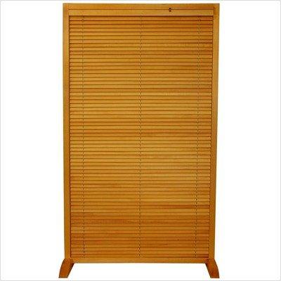 Wooden Shutter Freestanding Room Divider Color: Natural