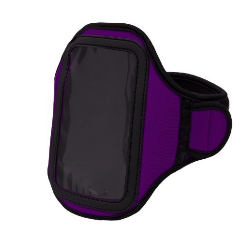 Purple Vangoddy Neoprene Workout Armband For Motorola Droid Razr Maxx Hd / Motorola Razr Hd / Motorola Droid Razr Hd / Motorola Droid Razr M / Motorola Electrify 2 / Motorola Photon Q 4G Lte / Motorola Atrix Hd / Motorola Xt928 / Motorola Droid 4 Smartpho