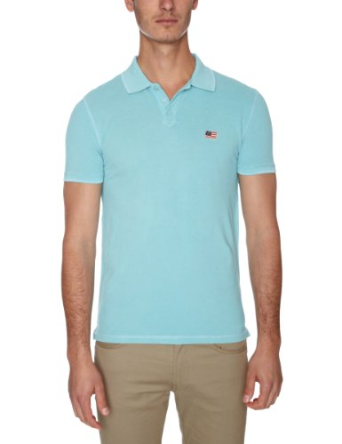 Wrangler Flag Polo Men's T-Shirt Aqua X Large