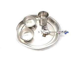 Buy pratha nicely designed 5bartan set only for your kids for Kitchen set bartan