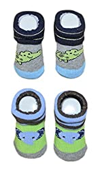 Imported New Born Baby Socks - Unisex (0 to 9 months) Pack of 2 Sets