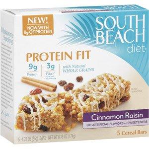 South Beach Diet High Protein Cereal Bars, Cinnamon Raisin 5 ea