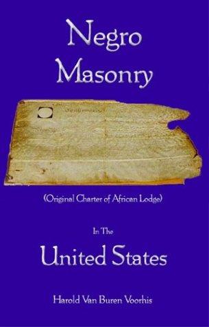 Negro Masony in the United States