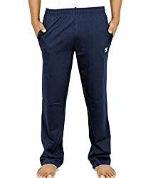 Scorpion Men's Cotton Track Pants (N0404S_Navy Blue_Small)