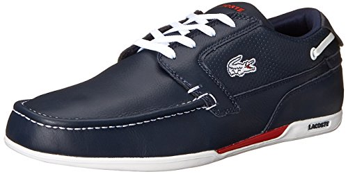 Lacoste Men's Dreyfus Boat Shoe,Dark Blue/White,9 M US