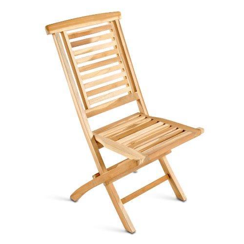 XXS® Möbel Gartenstuhl Hantown hochwertiges Teak Holz natürliches Design zusammenklappbar widerstandsfähig pflegeleicht Lager mit Paketversand kaufen