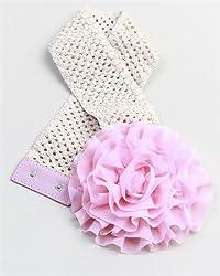 MOD 20 Women's Elasticized Crocheted Flower Waist Belt Pink OS(7057)