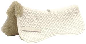 Contoured Half-back Saddle Pad - White, Full