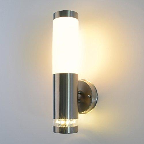 Aussenleuchte-Aussenlampe-Wandleuchte-Edelstahl-232A2-LED
