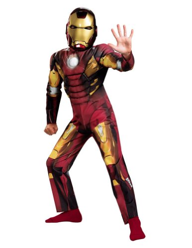 Baby-Toddler-Costume Iron Man Mark 7 Avengers Muscle Toddler Costume 3T-4
